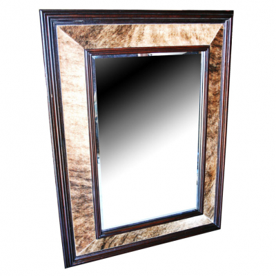 Imperial Rectangle Mirror, Hair On Hide