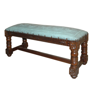 Granada Bench, Colonial, Turquoise