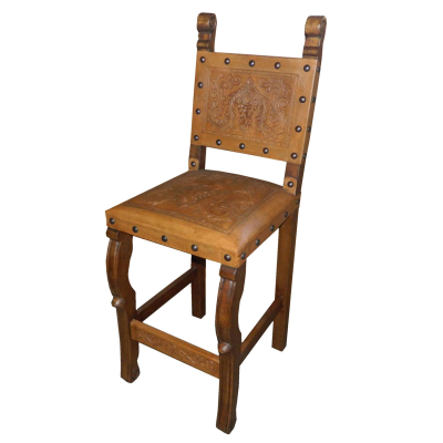 Spanish Barstool, Colonial, Rustic