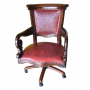 Swivel Office Chair, Colonial Red_2
