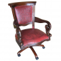 Swivel Office Chair, Colonial Red