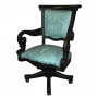 Swivel Office Chair, Colonial Turquoise