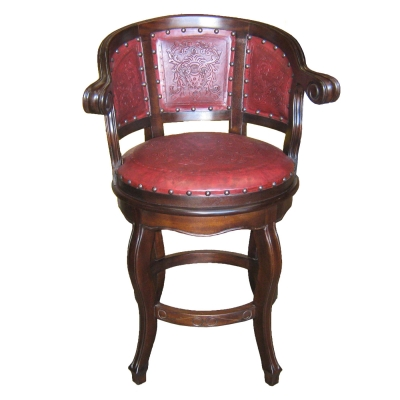 Cardinal Barstool, Colonial, Red