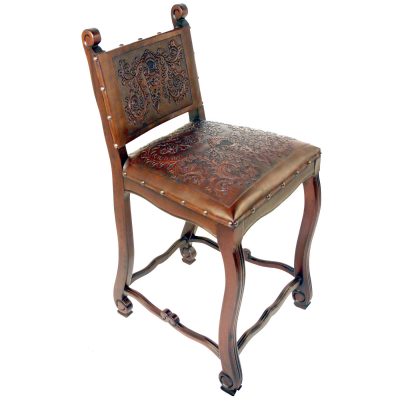 Lucia Barstool, Colonial, Antique Brown