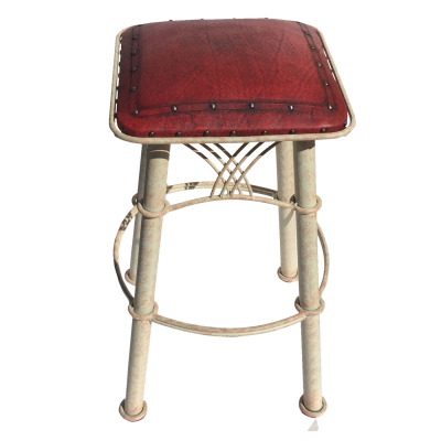 Montana Barstool, Plain with Tacks, Red