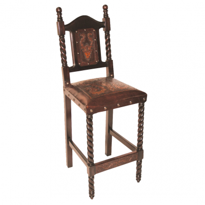 Solomon Barstool, Colonial, Antique Brown