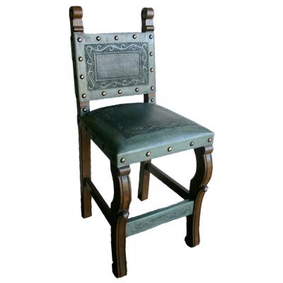 Spanish Heritage Barstool, Classic, Turquoise