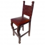 Spanish Heritage Barstool, Colonial, Antique Brown