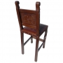 Spanish Heritage Barstool, Colonial, Antique Brown back