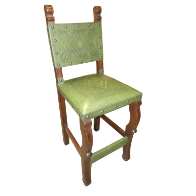 Spanish Heritage Barstool, Diamond, Green