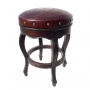 Spanish Heritage Round Barstool, Colonial, Antique Brown Counter Height