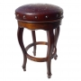 Spanish Heritage Round-Barstool, Colonial, Antique Brown Bar Height