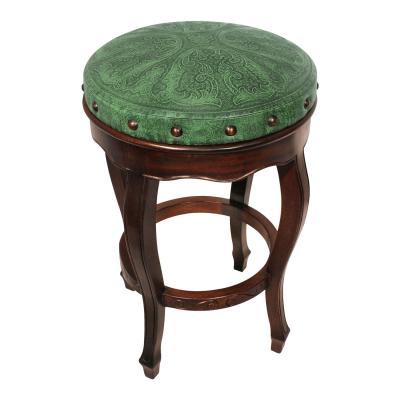 Spanish Heritage Round Barstool, Colonial, Green