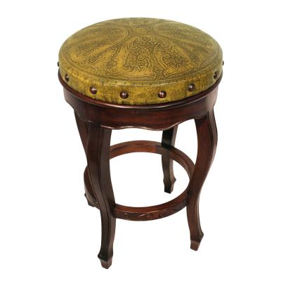 Spanish Heritage Round Barstool, Colonial, Mustard