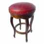 Spanish Heritage Round Barstool, Colonial, Red