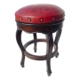 Spanish Heritage Round Barstool, Colonial, Red Counter Size