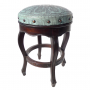 Spanish Heritage Round Barstool, Colonial, Turquoise Counter Size