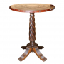 Solomon Bar Table, Circle Rope, Antique Brown