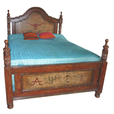 Spanish Bed, Painted, Western