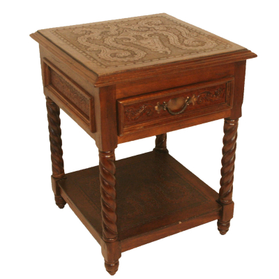 Small Solomon Nightstand, Colonial