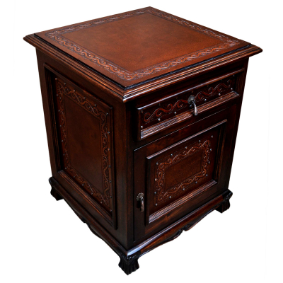 Spanish Heritage Nightstand, Classic, Antique Brown