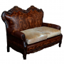 Teresa Love Seat Sofa, Colonial, Antique Brown