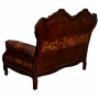 Teresa Love Seat Sofa, Colonial, Antique Brown back