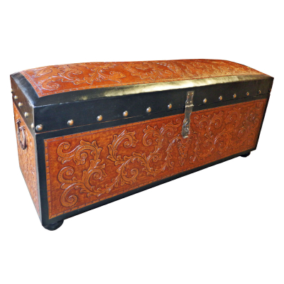 Jumbo Trunk Bench, Colonial, Two Tones