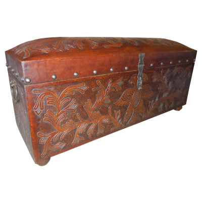 Jumbo Trunk Bench, Phoenix, Antique Brown