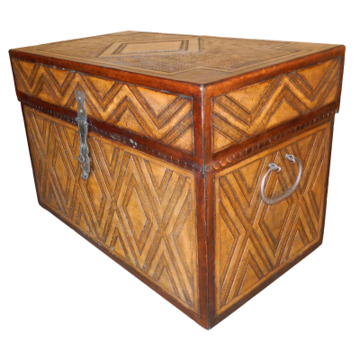 Large Trunk, Flat Top, Diamond, Two-Tones