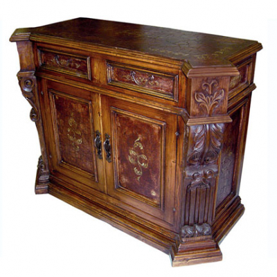 Hand Carved Crackled Buffet