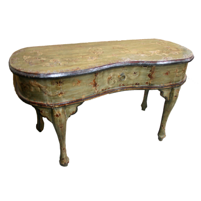 Katherina Console Desk, Painted Green