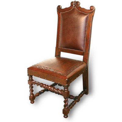 Diego Chair, Classic Seat, Antique Brown