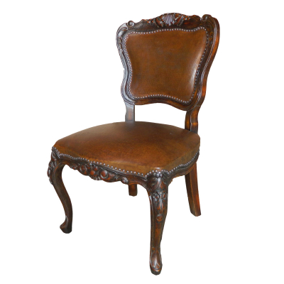 Katherine Chair, Brown, Painted, Plain Hammered Leather