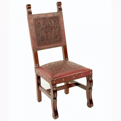 Spanish Heritage Chair, Colonial, Red