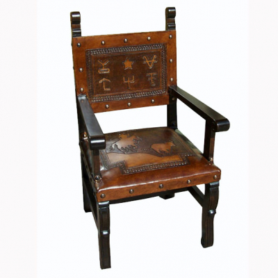 Spanish Heritage Arm Chair, Calf Roper