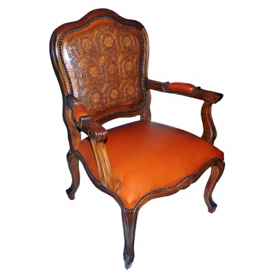 Medallion Arm Chair, Colonial Back, Soft Seat