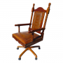Solomon Office Chair, Circle Rope, Rustic