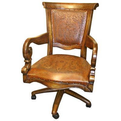 Sammy Office Chair, Colonial, Rustic